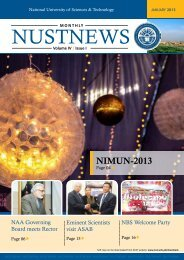 NUSTNEWS January-2013 - National University of Science and ...