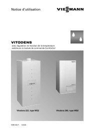 VITODENS Notice d'utilisation - Viessmann