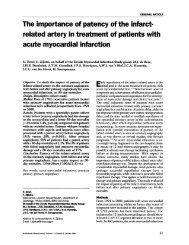 related artery in treatment of patients with acute myocardial infarction