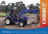 TM Range Compact Tractors All torque. All Action. 23 & 26hp - Iseki