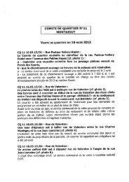 COMITÉ DE QUARTIER N°11 ' MONTAIGUT