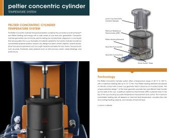 peltier concentric cylinder - TA Instruments