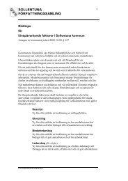 Lönepåverkande faktorer - Sollentuna kommun