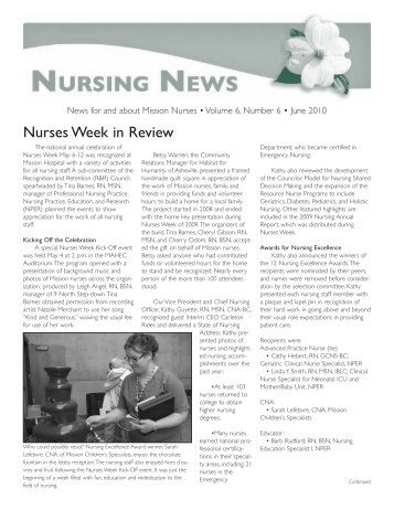 Nurses Week in Review - Mission Health