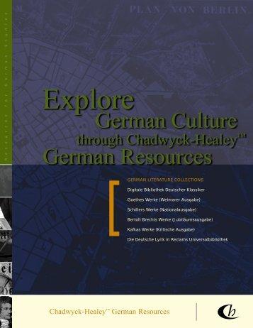 ProQuest - German Literature Collections Brochure (PDF)