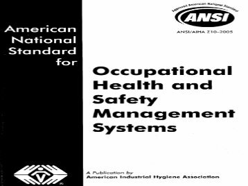 Occupational Health and Safety Management Systems - Consejo ...
