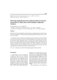 Detection of Quality Diversity of Durum Wheat - Bulgarian Journal of ...