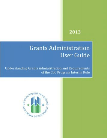 CoC Program Grants Administration User Guide - OneCPD