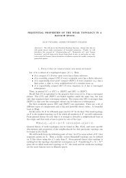 SEQUENTIAL PROPERTIES OF THE WEAK TOPOLOGY IN A ...