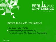 LibreOffice Berlin 2012 Conference Presentation Template