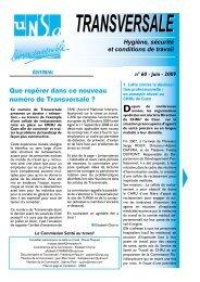 Santé au travail n°60 - Juin 2009 - Unsa