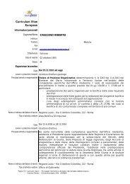 Curriculum Vitae Europass - Regione Lazio