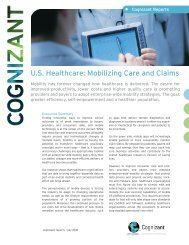 U.S. Healthcare: Mobilizing Care and Claims - Cognizant