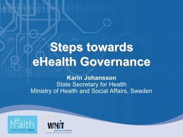 Steps towards eHealth Governance