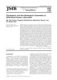 Fibrillogenic and Non-fibrillogenic Ensembles of SDS ... - CCMB