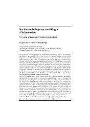 Recherche bilingue et multilingue d'information - ARIA