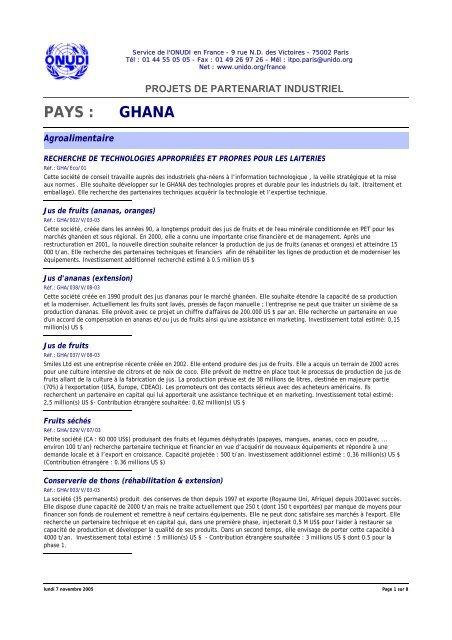 PAYS : GHANA - unido