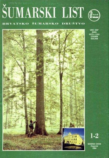 ÅUMARSKI LIST 1-2/1994 - HÅD