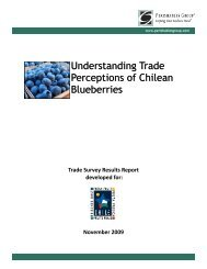 Understanding Trade Perceptions of Chilean Blueberries