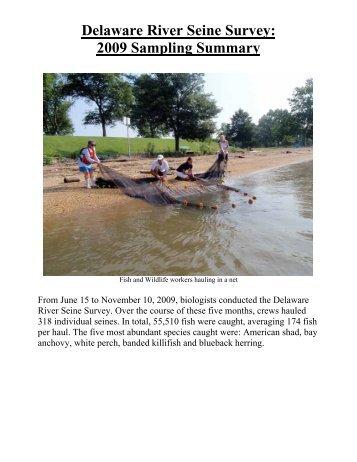 Data Summary of 2009 Delaware River Seine Survey