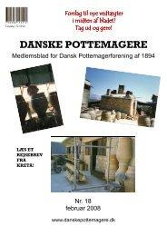 2008 - Medlemsblad nr. 18 - Pottemagere   Keramiker