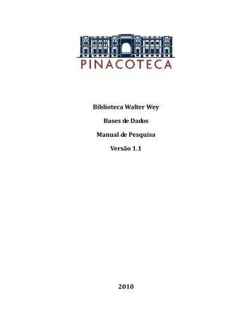 Biblioteca Walter Wey Bases de Dados Manual de Pesquisa Versão ...