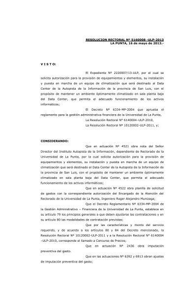 Concurso de Precios Nº 13-ULP-2013 - Universidad de La Punta ...