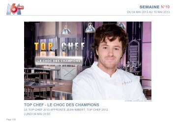 SEMAINE N°19 TOP CHEF - LE CHOC DES CHAMPIONS