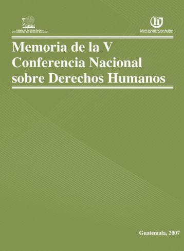 Memoria de la V Conferencia Nacional sobre Derechos Humanos