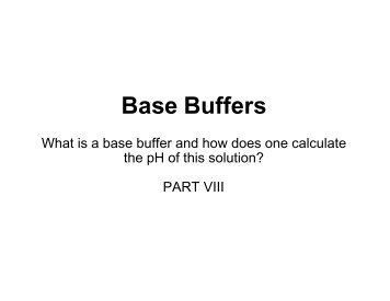 Base Buffers