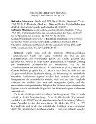 DEUTSCHE LITERATUR ZEITUNG Katharina Mommsen , Goethe ...