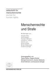 Menschenrechte und Strafe - Wochenschau Verlag