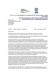 Letter sent to parishes which contain no define settlements