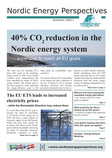 Newsletter 2008:1 - Nordicenergyperspectives.org