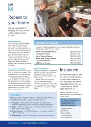 Insert- Repairs to your home - London & Quadrant Group