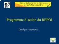 Programme d'action du REPOL, quelques éléments