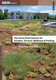 Planning information Flat Green Roof Systems for Gardens ...
