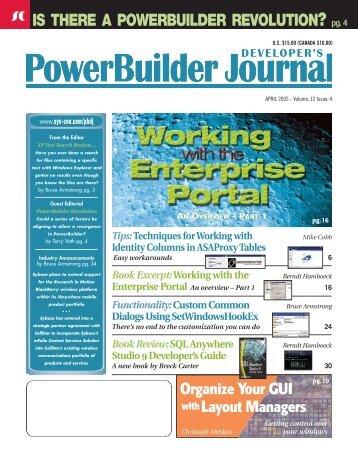 A PowerBuilder Revolution - sys-con.com's archive of magazines ...