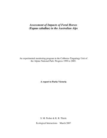 Assessment of impacts of - Australian Alps National Parks