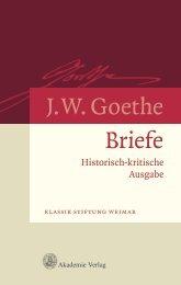 Briefe J.W. Goethe - Klassik Stiftung Weimar