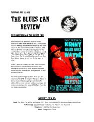 The Blues Can Review - Foodpages Canada