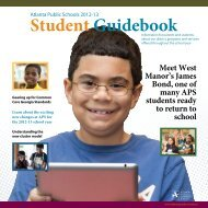 Download the 2012-13 Student Guidebook - Atlanta Public Schools