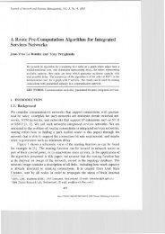 A Route Pre-Computation Algorithm for Integrated Services ... - EPFL