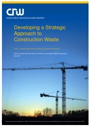 Developing a Strategic Approach to Construction Waste