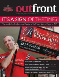 IT'S A SIGN OF THE TIMES - Keller Williams Realty