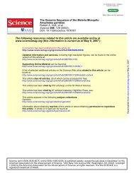 Anopheles gambiae - Computational Evolutionary Genomics Group