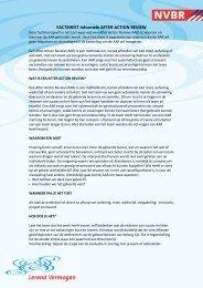 Factsheet After Action Review - BrandweerKennisNet