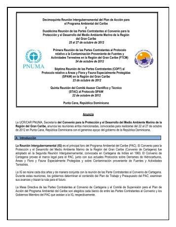 Decimoquinta Reunión Intergubernamental del Plan de Acción para ...