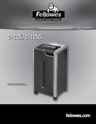 C-325i/C-325Ci - Fellowes