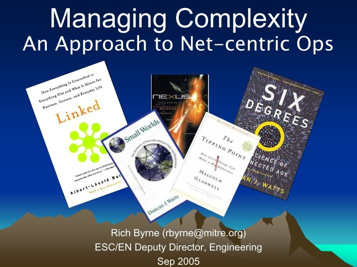 managing in complexity